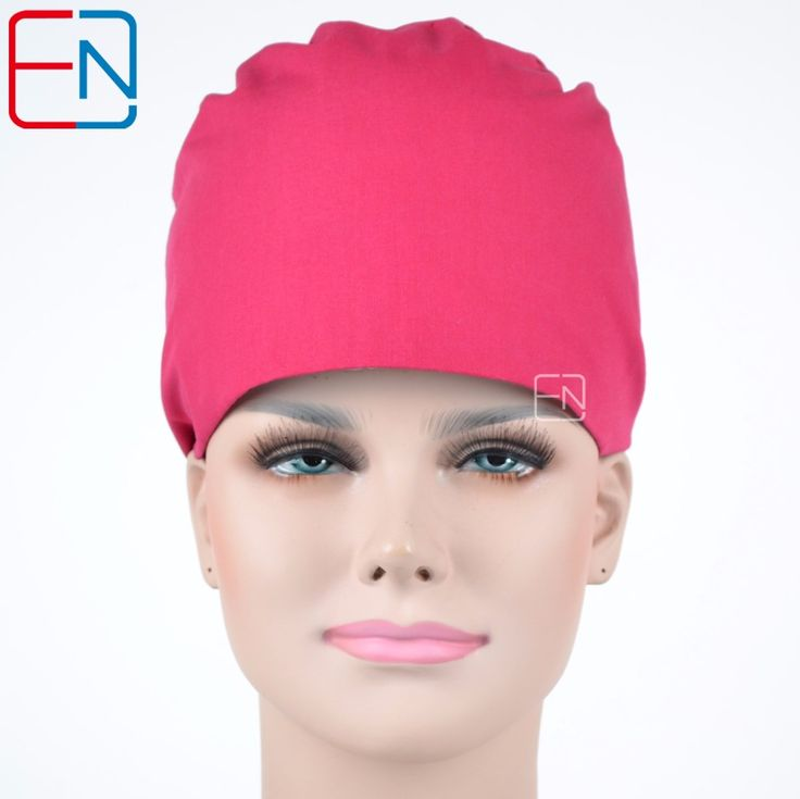 Hennar brand Unisex Medical surgical dentist caps/hats Pet doctor cap/hats scrub caps rose red