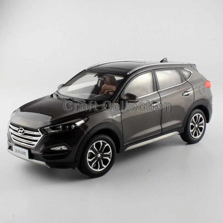 103.80$  Watch now - http://aliipp.worldwells.pw/go.php?t=32742932343 - Brown 1:18 Hyundai Tucson 2016 New IX35 SUV Diecast Cars Model Building Vehicle Classic toys Miniature Craft