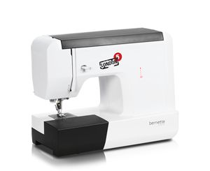Bernette London 5, has ease of operation 28 Stitches,, automatic one-step buttonhole, 5mm-wide decorative stitches , and Auto simple threading, Adjustable Stitch Length and Width on all stitches.