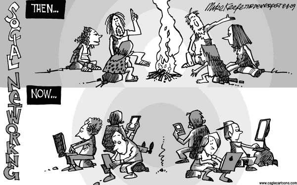 Social Networking antes y después.