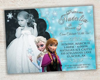 Best Kayleighs Rd Birthday Party Images On Pinterest - Birthday invitation frozen theme