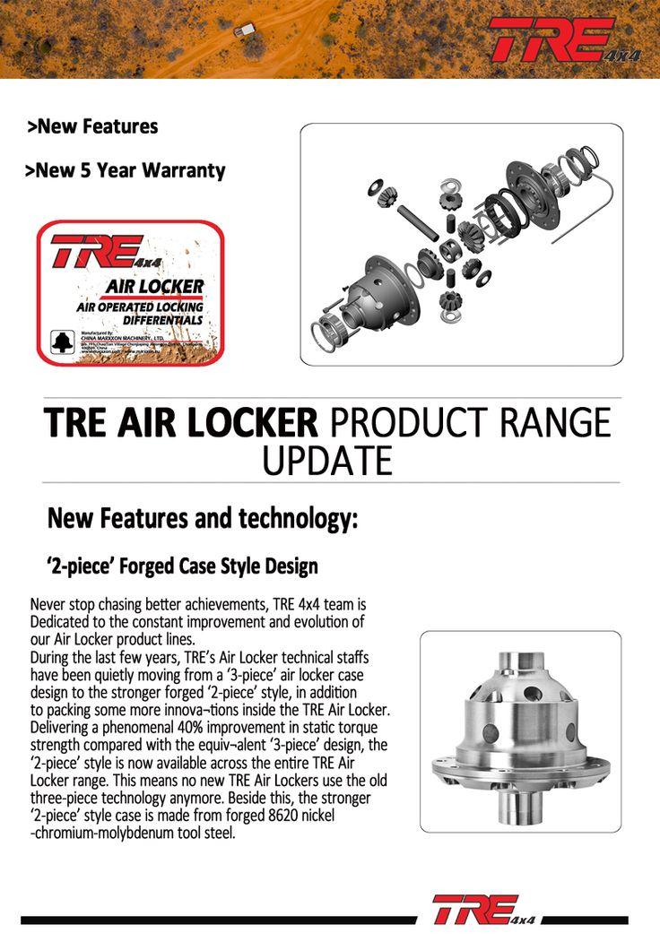 New Features and New Warranty-TRE Air Locker-MARXXON GROUP  http://www.marxxon.com/newsinfo/651.html  #airlocker #ARBairlocker #offroad #4x4 #SUV #jeepwrangler #toyotahilux #toyotalandcruiser #nissanpatrol#suzukijimny #ford #landroverdiscovery #mitsubishipajero #mitsubishitriton #treairlocker
