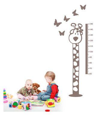 Deze+schattige+meetlat+muursticker+staat++geweldig+in+iedere+babykamer+of+kinderkamer!+In+meerdere+kleuren+leverbaar.