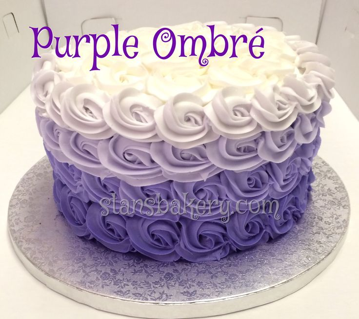 Purple Ombr 233 Rosette Cake Cookies And Cakes Pinterest
