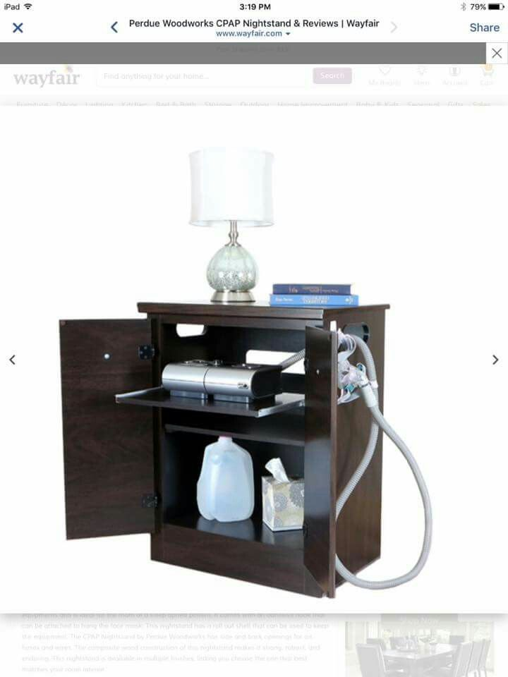 Cpap Bedside Table: Excellent Cover Up For A CPAP Machine.