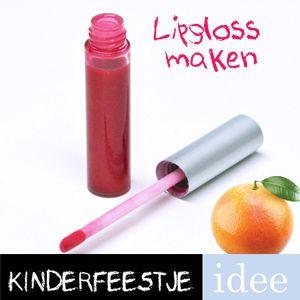 Lipgloss maken is gegarandeerd succes voor meiden tussen 7 en 12 jaar Complete lipgloss pakketten met duidelijke instructie. Kinderfeestje-Idee.