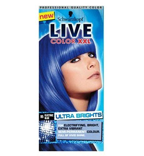 Schwarzkopf Live Color Xxl Ultra Brights 95 Electric Blue Semi-Permanent Blue Hair Dye * To view further for this item, visit the image link.