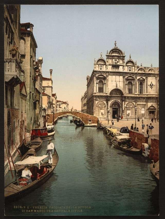 Venezia - Facciata della Scuola San Marco - Ospedale civile Italie