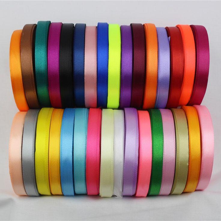 A-166910 , 10mm 31 color choose 25 Yards Silk Satin Ribbon , Wedding decorative ribbons, gift wrap, DIY handmade materials