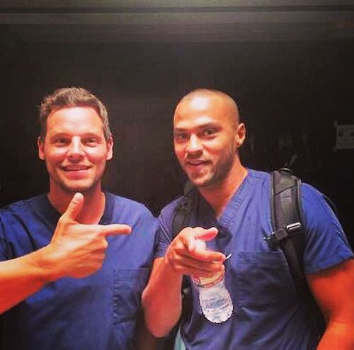 Justin Chambers and Jesse Williams