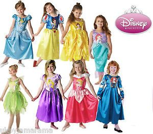 Girls Classic Disney Princess Fancy Dress Outfit Costume Ages 3 8 Kids Licensed | eBay Visit www.fireblossomcandle.com for more party ideas