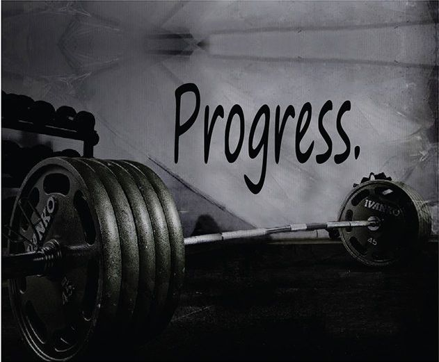 Fitness Motivation Gym Wall Decal - Progress Wall Decal