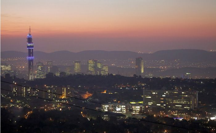 shiny Pretoria right after sunset #PowerYourCity by: chic voyage productions