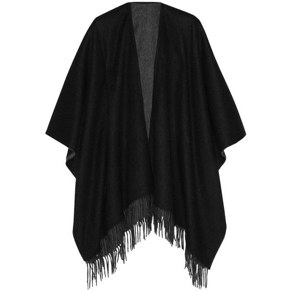Rag & bone Reversible merino wool wrap ($425) ❤ liked on Polyvore featuring accessories, scarves, cardigans, black, wrap scarves, black wrap shawl, black shawl, merino wool shawl and reversible scarves