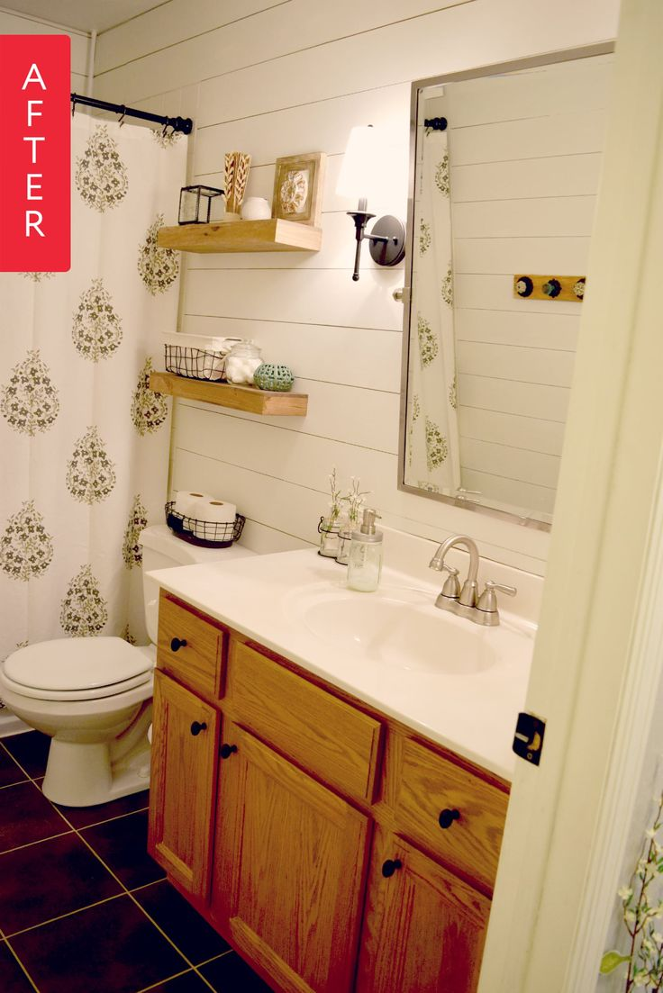 Before & After: Shiplap Boosts a Blah Bathroom