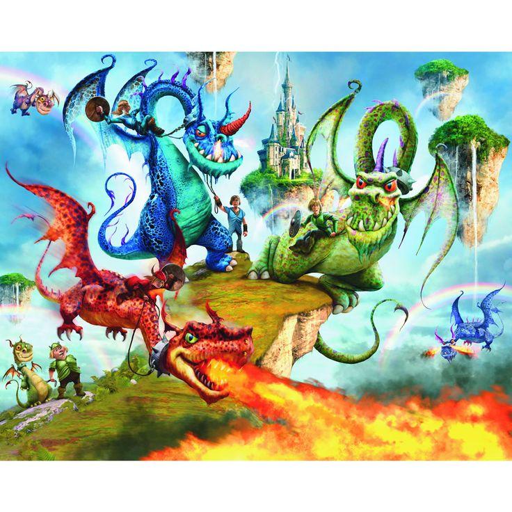 7 best images about murales on pinterest disney doc for Dragon mural wallpaper
