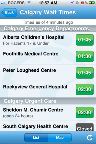Alberta Health Services. Good to have, quick refence for emerg wait times, poision control nu,bers etc, just downloaded this :)