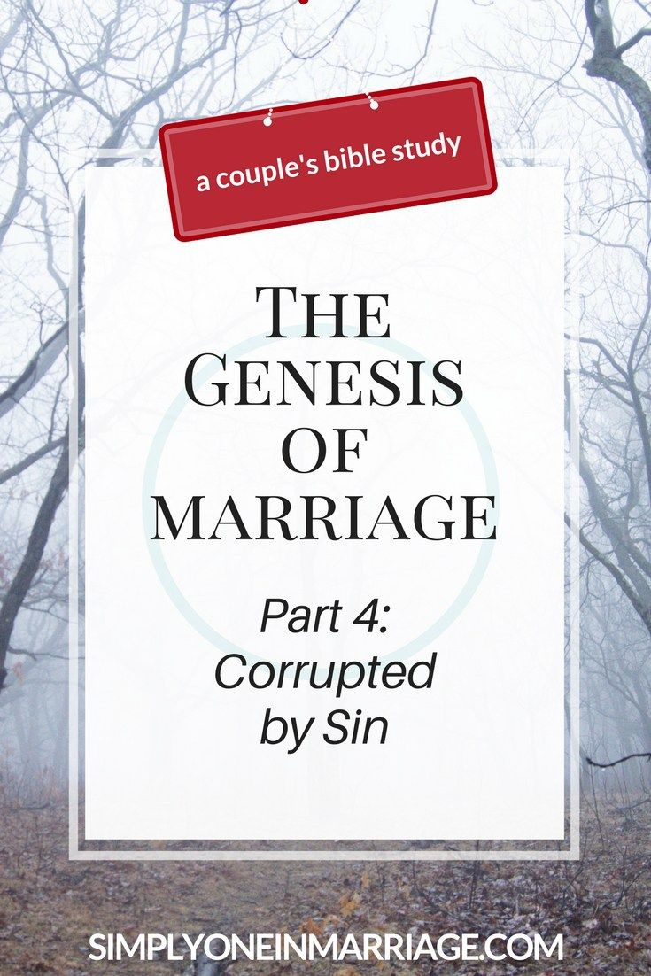 God created marriage to be a wonderful relationship between husband and wife. But His perfect design was corrupted by sin. We still struggle with sin today, but God has provided a way to overcome the sin in our lives and restore our relationship to where it should be.