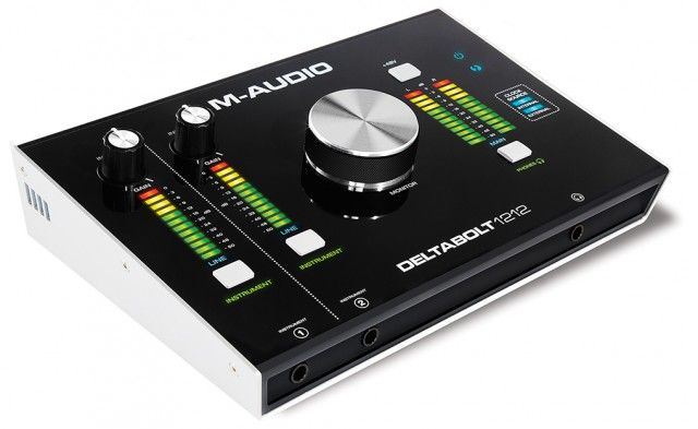 At the 2015 NAMM Show, M-Audio introduced the Deltabolt 12-channel audio interface, created from the ground up to be a Thunderbolt-compatible interface, Features: Record up to 32-bit/192kHz over a ...