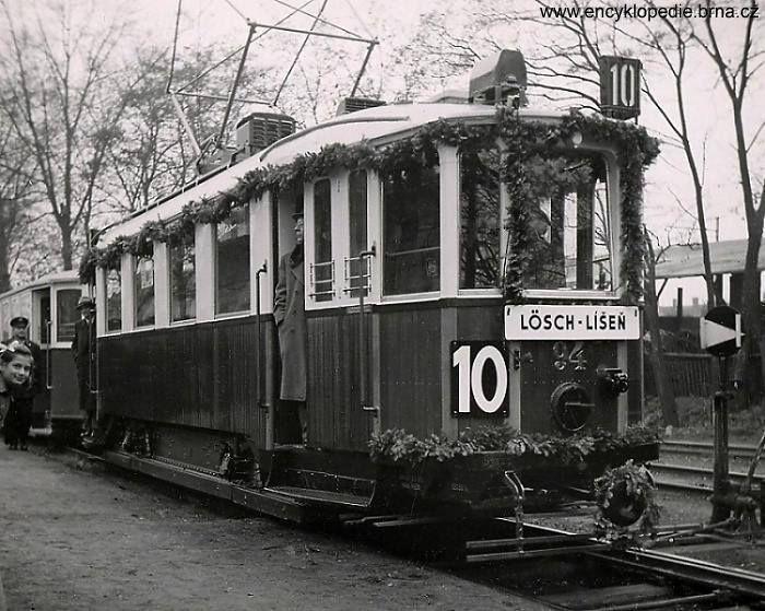 Prvni tramvaj dorazila do Brno-Líšen' 1944