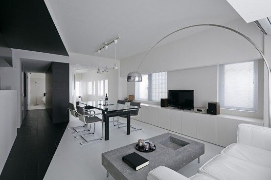 Pure Minimalism: Black And White Monochromatic Apartment Design | DigsDigs