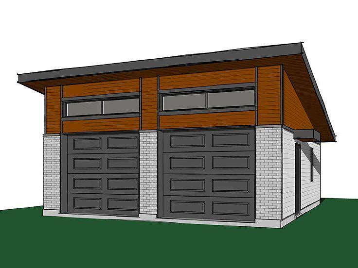 Modern Garage Plans Modern 2 Car Garage Plan Modern: 1535 Best Garage Asylum Ideas Images On Pinterest