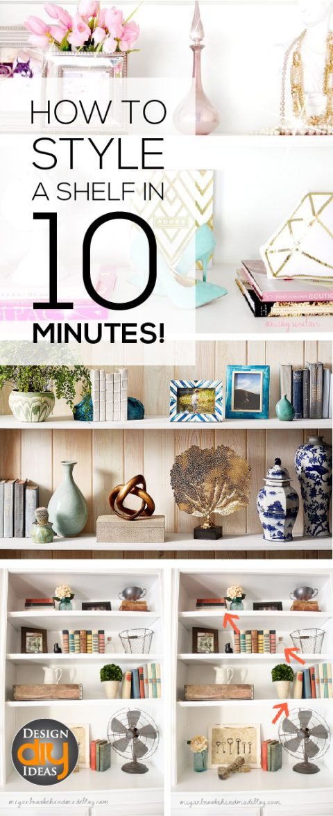 Hello. I am a shelf addict. I love them and you can too!  Learn how to style a shelf in 10 minutes.