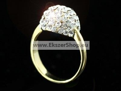 Swarovski arany bogyó gyűrű -56,9mm