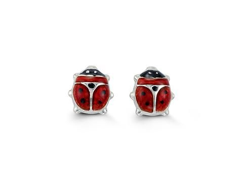 Bella Baby Lady Bug Earrings 10k gold red enamel lady bug stud earrings. Available in white or yellow gold.  Backings: butterfly  Weight: 0.44 grams  Dimensions: 6.7mm x 6.2mm  Check out our jewellery here: https://hwilliamsjewelleryshop.com/collections/all-products/products/yellow-gold-lady-bug-earrings