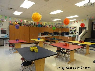 Lovely Mrspicassou0027s Art Room: My Art Room  The Latest Version Colored Poof Over  Tables To