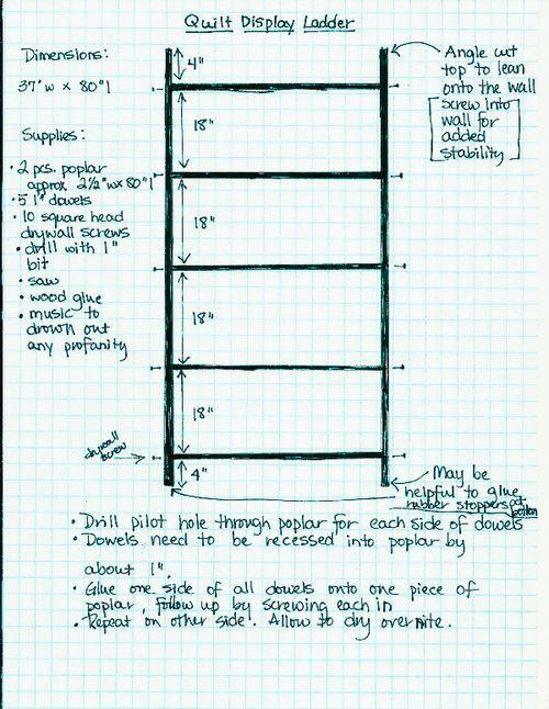 make a quilt display ladder - Wise Craft Handmade
