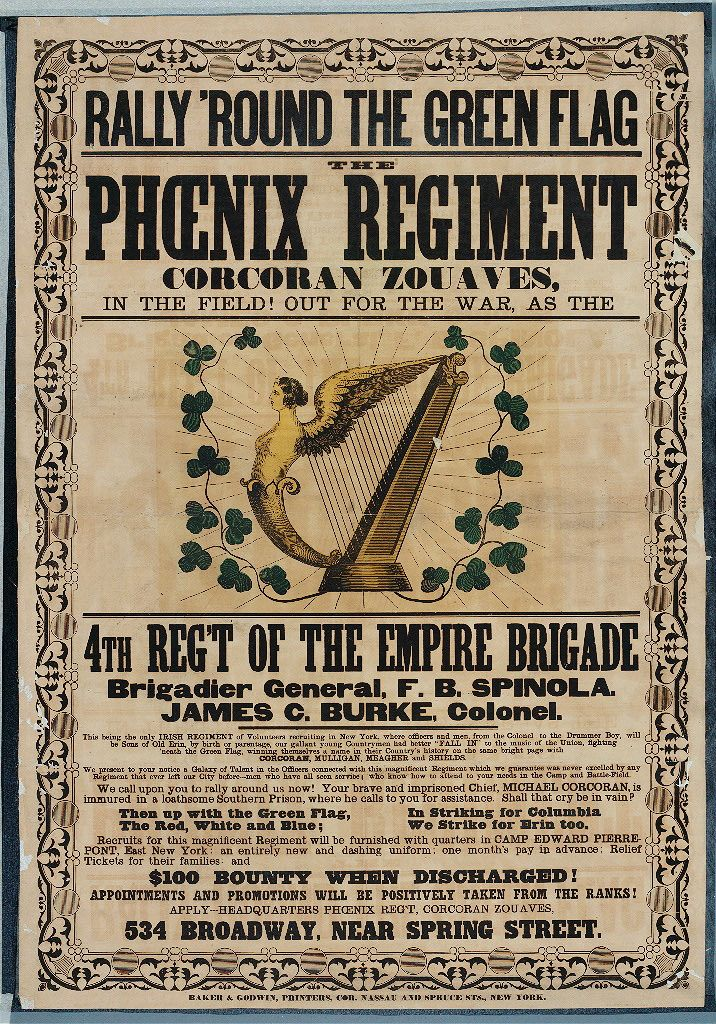 American Civil War Recruitment Poster for The Phoenix Regiment (Civil War Treasures from the New York Historical Society, via Library of Congress)