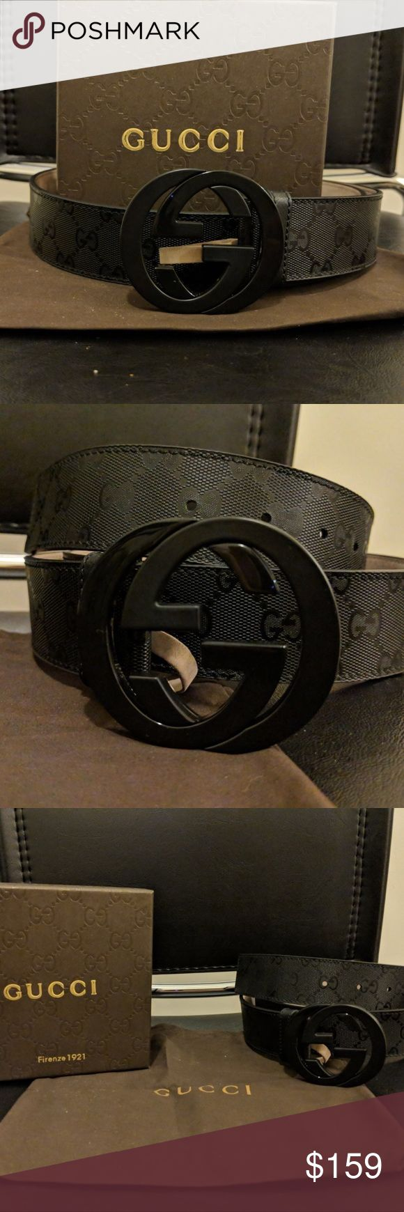 🔥HOT🔥Authentic Men's Black Imprime Gucci Belt This is a brand new never opened 100% Authentic Gucci Belt  *Bought from Gucci Outlet Store  Comes with  -Dust Bag -Original Tags  -Box  Sizing is easy just find your pants size and click buy!   Belt ships out same day through USPS Priority Shipping! Arriving in 1-3 Days  Use the offer button! If it is reasonable I will consider! Bundles are a money saver!   Feel fee to drop a comment below!   Get this for you' loved ones for this Christmas…