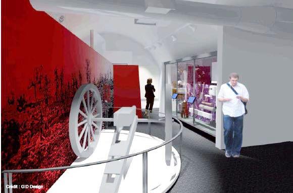 Zone 2 du futur Musée Royal 22e Régiment #MR22eR #CitadelleQuébec #Ouvertureprintemps2014