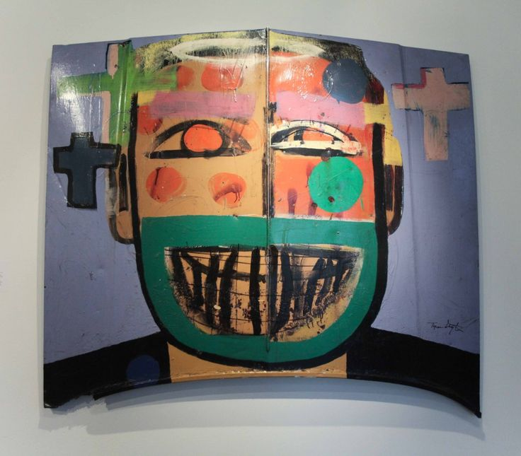 """Tyree Guyton, """"Faces of God/Faces in the  Hood""""Art Crafts, Tyre Guyton, Based Painting, Showca Artists, Heidelberg Projects"""
