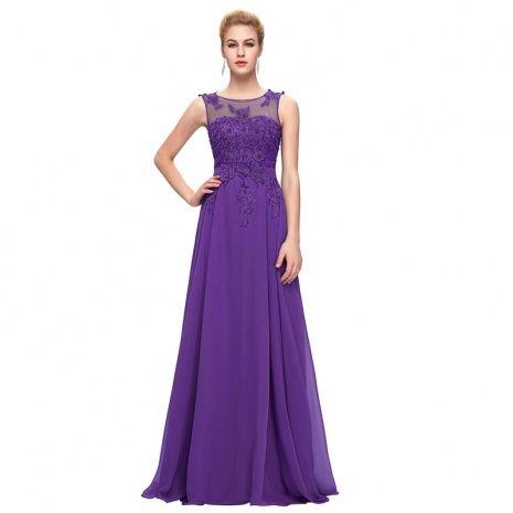 Purple Evening Gowns Plus Size