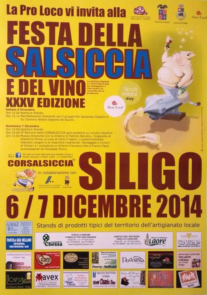 XXXV EDIZIONE FESTA DELLA SALSICCIA E DEL VINO – SILIGO – 6-7 DICEMBRE 2014