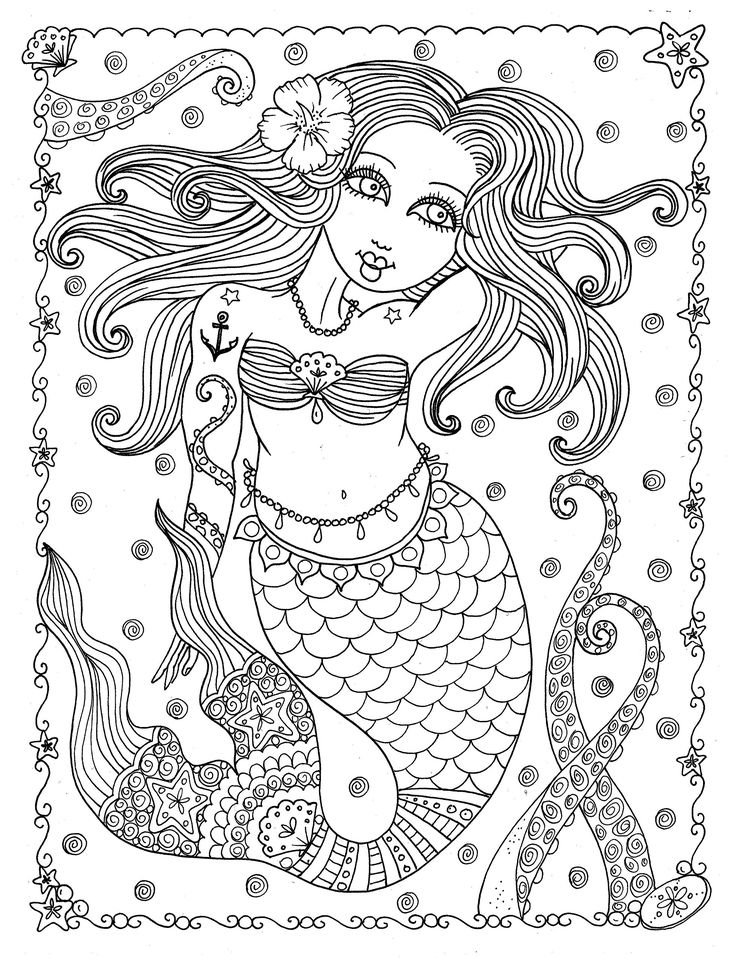 the chubby mermaid coloring book for mermaid lovers not your mamas coloring book spiral bound - Mermaid Coloring Pages Adults