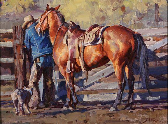 A  12 x 16  Western art print done by American artist Jason Rich and titled > Plenty Of Help