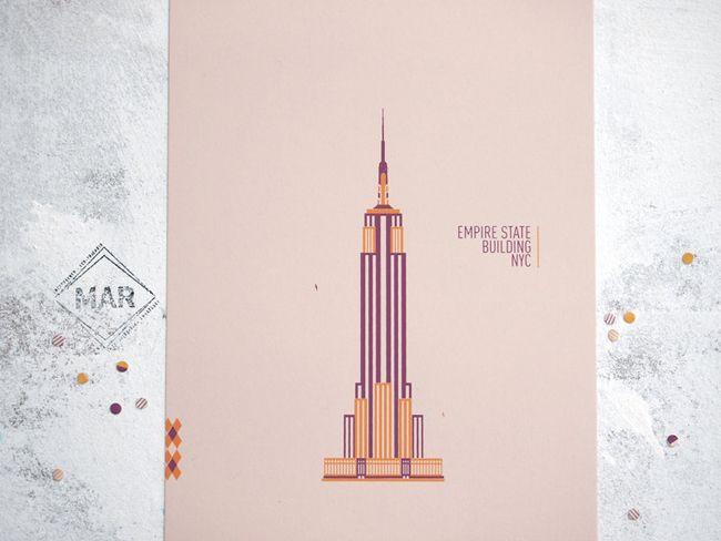 mmmmar empire state building print.