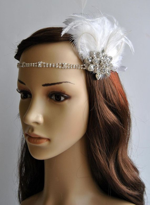62 best great gatsby 1920s headpiece images on pinterest rhinestone headband 1920s - Headband annee 20 ...
