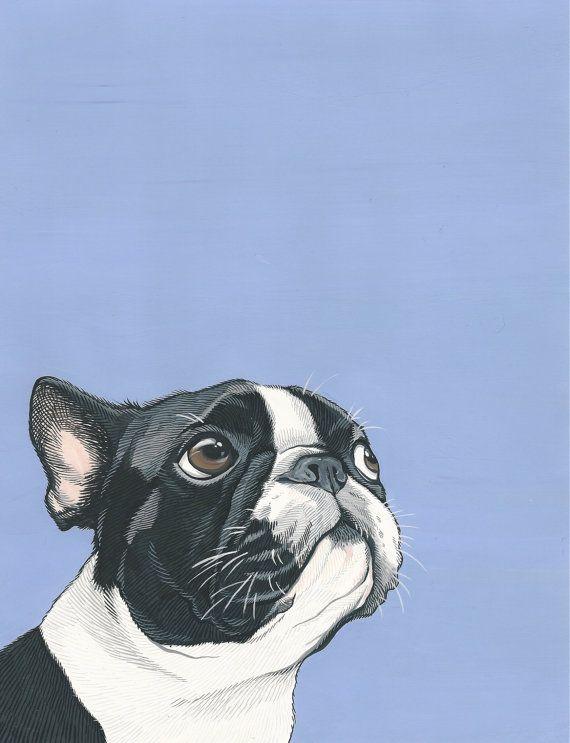 Custom Pet Portrait 5x7 inch Painted Portrait Pet by ArtbyManda