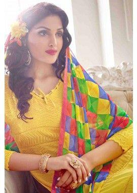 Yellow Chiffon Salwar Kameez