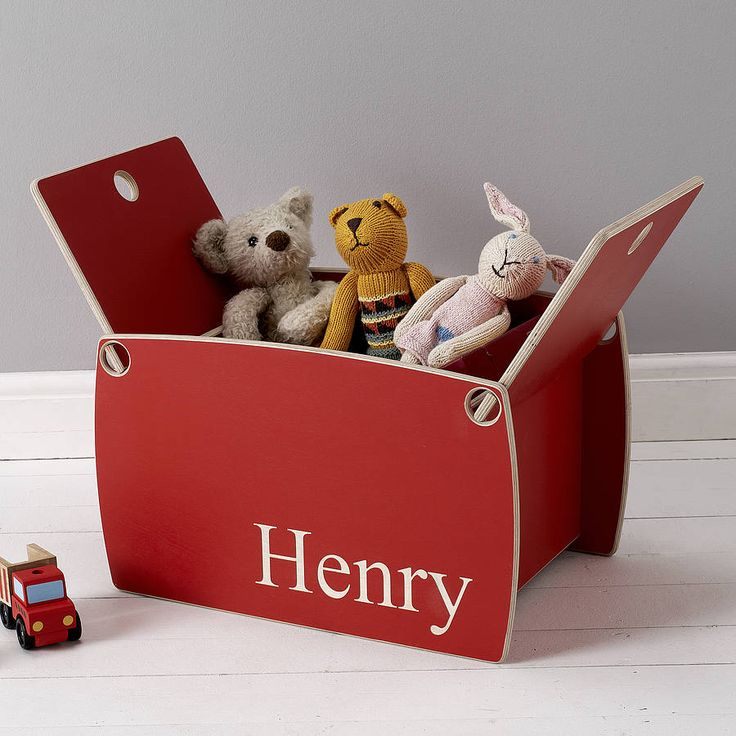 personalised wooden toy box by childs & co | notonthehighstreet.com