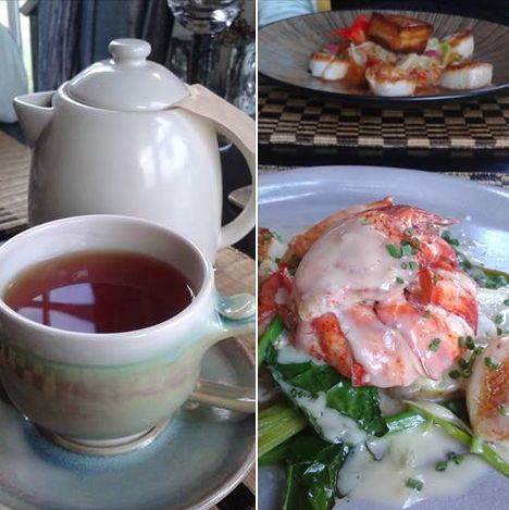 A delicious summer meal at The Pearl, An Eclectic Eatery on Prince Edward Island with my daughter Emily topped up with a cup of Lady Bajer's Vanilla Almond Rooibos tea!