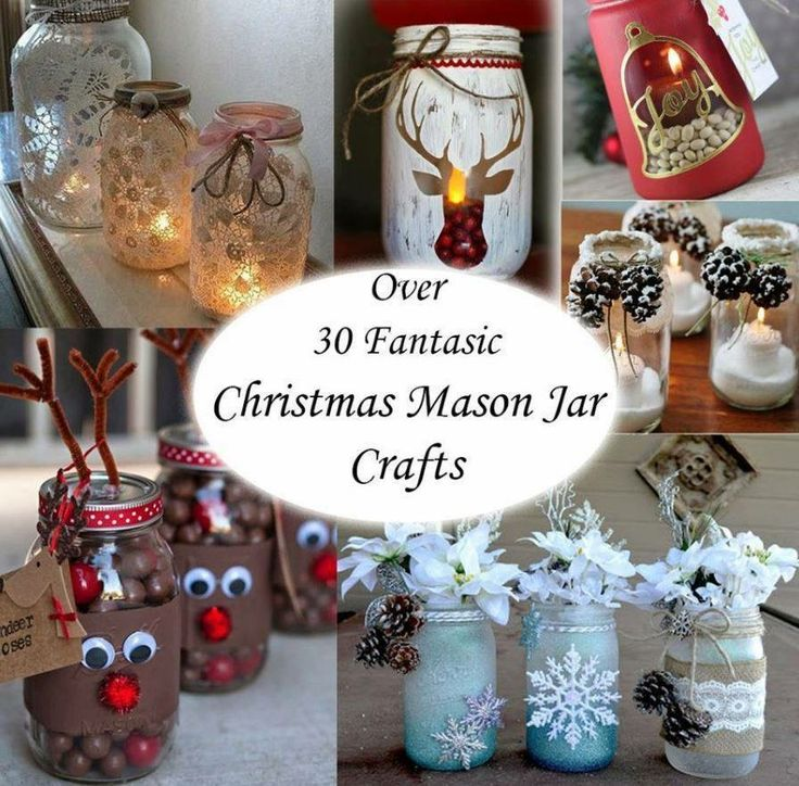 Mason Jar Christmas Decorations: Pin By Grace Matz On 'Tis The Season