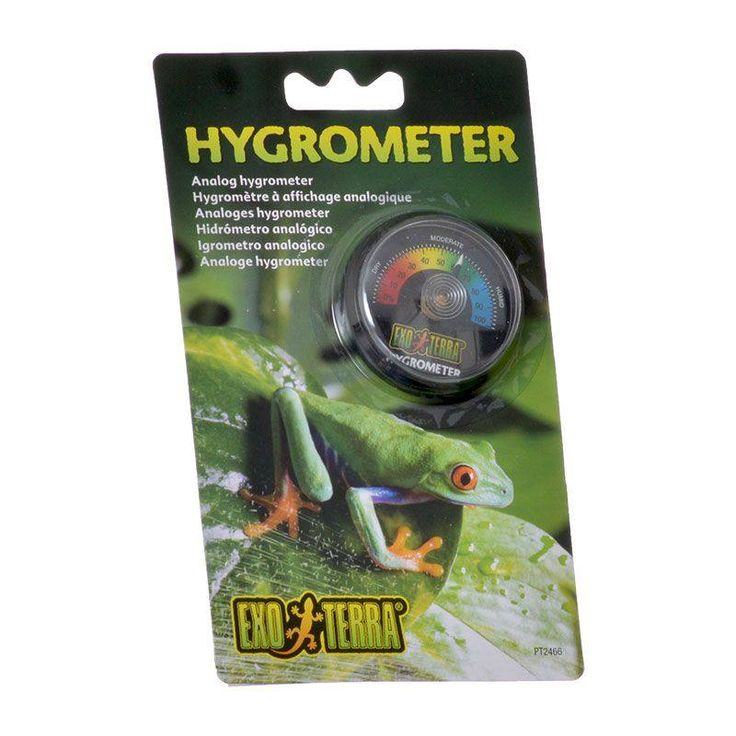 exo terra analog hygrometer for reptiles makes it easy to monitor your terrarium humidity levels