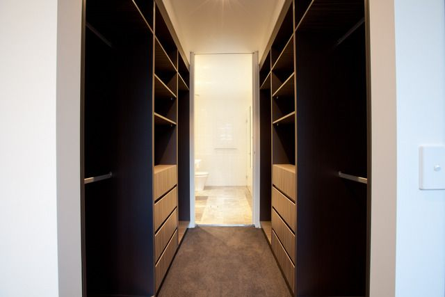 Walk-through wardrobe leading to ensuite bathroom