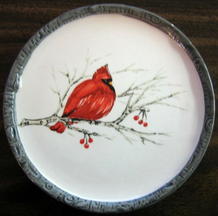 Decorative Dishes - Faux Birch Edge Cardinal Bird on Branch Decorative Small Plate  $9.99 ( & 17 best Decorative plates images on Pinterest   Decorative plates ...