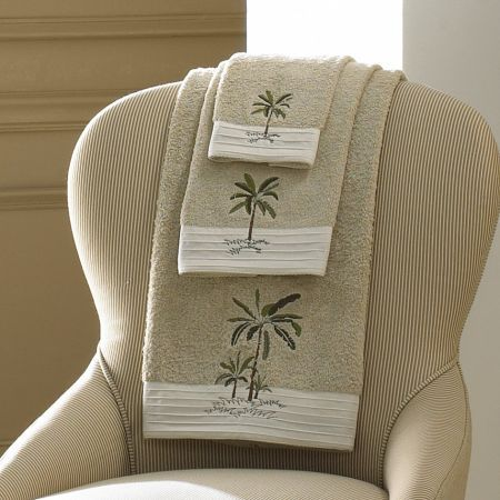 Croscill Fiji Towels - Use these embroidered towels to get your Fiji look at home.  #bathroom #decor #towels